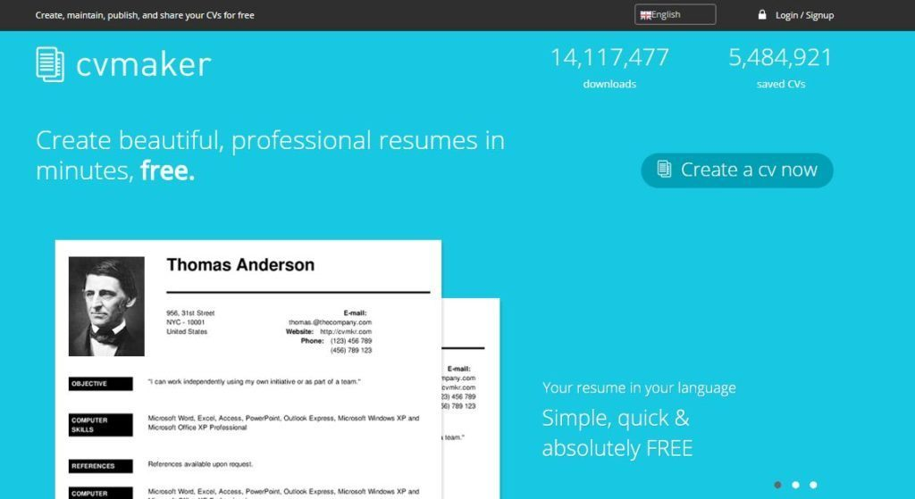 """""""Resume"""" กับ 5 เว็บไซต์ในการสร้างเพื่อสมัครงาน"""